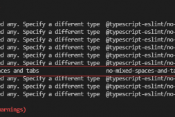 npm run serve提示error Mixed spaces and tabs no-mixed-spaces-and-tabs解决办法