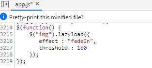 jquery lazyload图片延时加载在可见区域却不显示