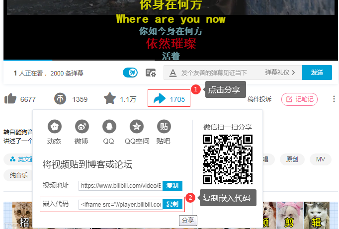 个人站点引用bilibili、优酷视频资源网站视频的方法