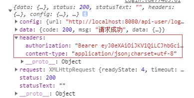 axios跨域请求响应的headers中没有Authorization问题解决
