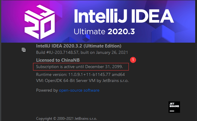 IntelliJ IDEA 2020.3.2永久激活破解版实现教程