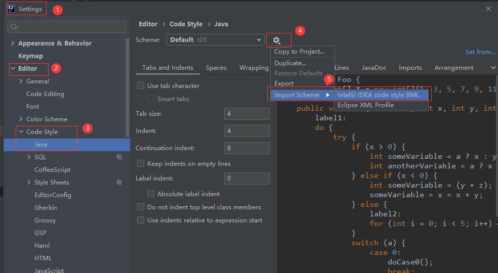 如何将IntelliJ IDEA的代码格式设置为公司要求的Code Style
