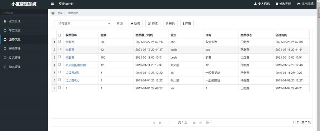 基于SSM框架开发的小区物业管理系统JavaWeb项目源码-P0004
